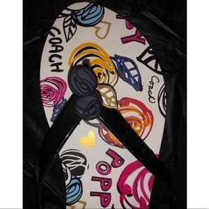 Coach Shoes - NWOT coach poppy flip flops